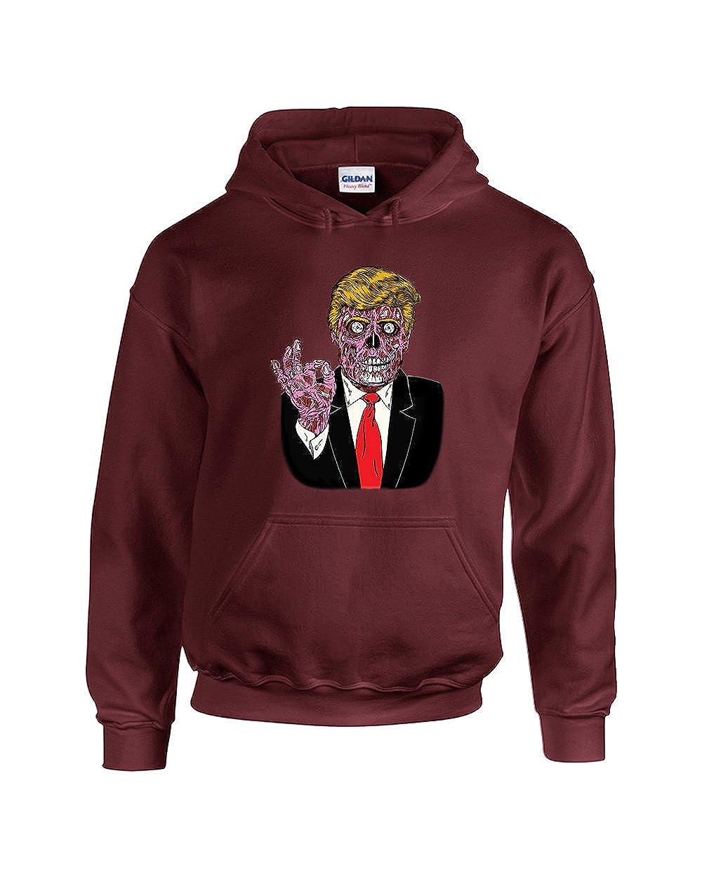 CAMALEN Trump Zombie President Funny Unisex Pullover Hoodie Hooded Sweatshirt