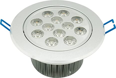 Garza Lighting - Foco Downlight LED empotrable de alta potencia 12W , luz cálida 2700K