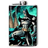 FN453 - Batman Decorated 8oz. Stainless Steel Flask