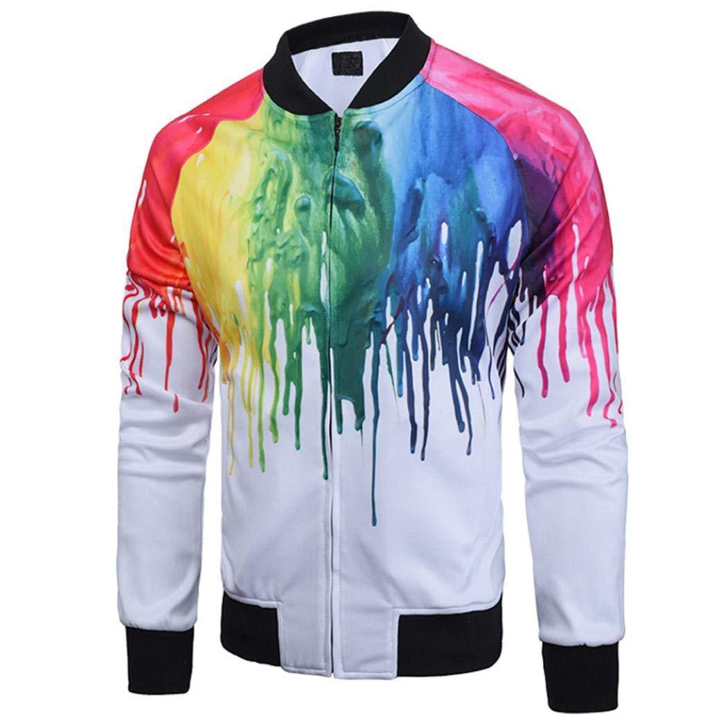 Sharemen Men's Jacket Baseball Coat Printed Long Sleeve Slim Fit Sportswear