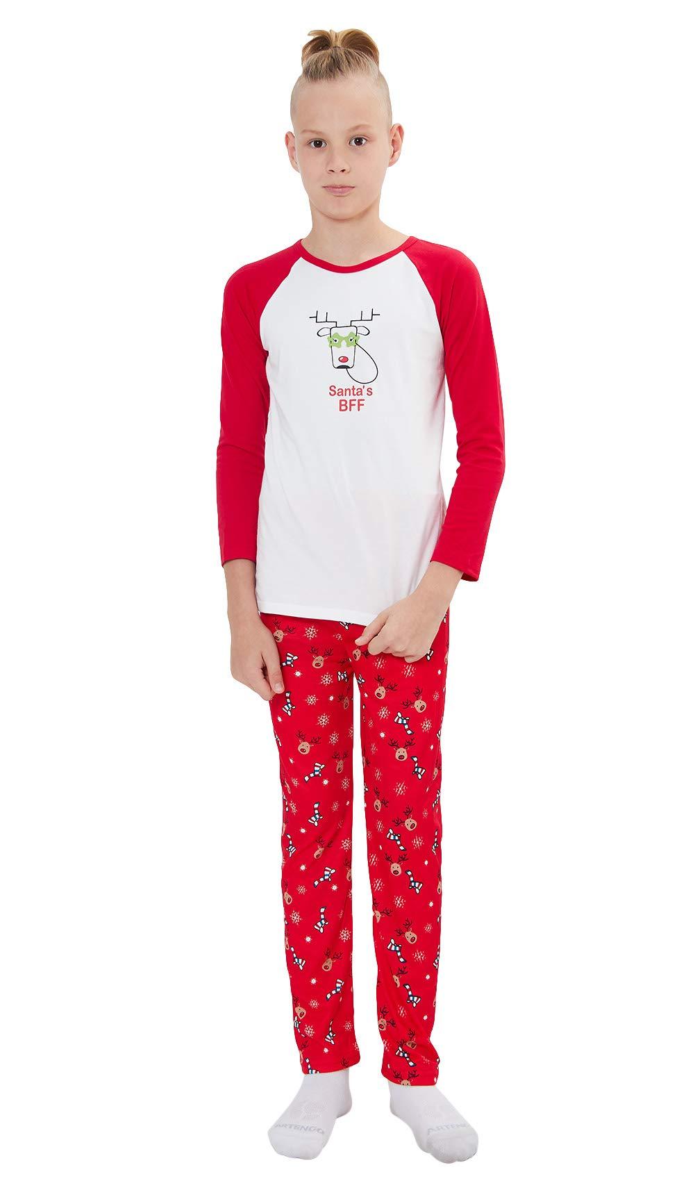 Natale Famiglia Matching Pigiama, Divertente Babbo Natale Chillin Lettera Stampa Mamma e papà Bambini Sleepwear Pigiama Bambino Manica Lunga Set per Ragazze Ragazzi