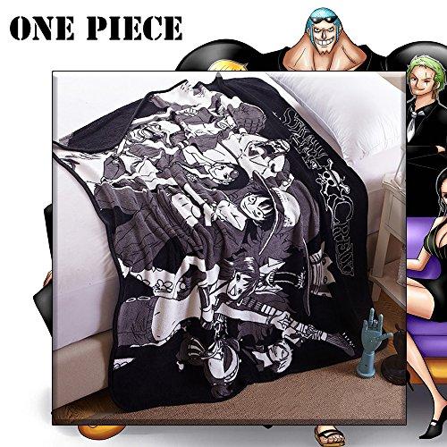 KINOMOTO Anime Straw Hat Crew Coral Fleece Throw Blanket Daily Nap Polyester Quilt (Straw Hat Pirates)