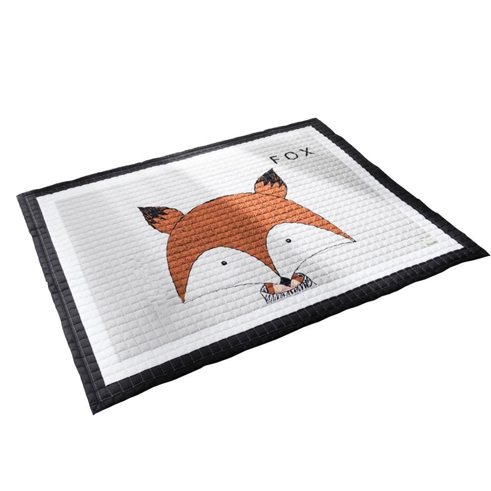 LAGHCAT Children Rug thickening Carpet with Animal Soft Christmas Mat for Baby Creeping,Fox