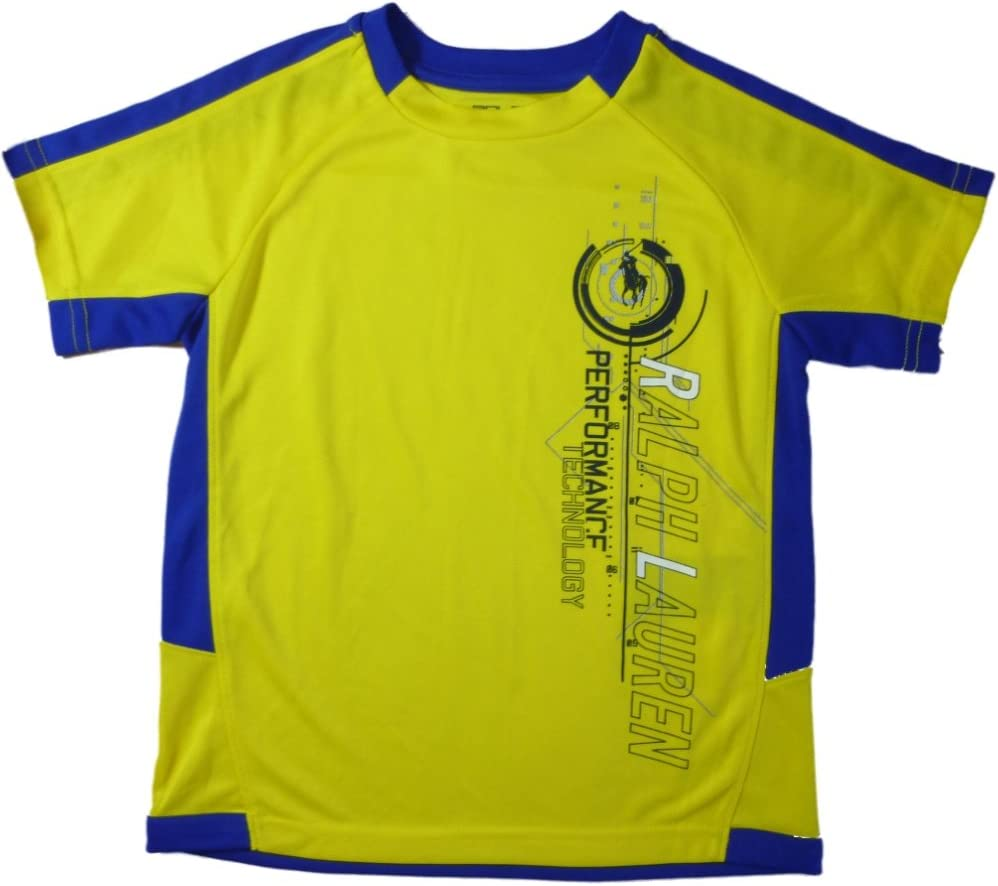 Ralph Lauren Niños Activ Sport Performance Technology Athletic – Camiseta de niño amarillo 110: Amazon.es: Bebé