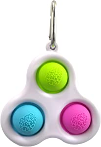 BULINGNA Silicone Sensory Toys, Fidget Dimple Toy Handheld Mini Fidget Toy Stress Relief Toy, Keychain Toy Stress Relief Hand Toys for Kids and Adults Anxiety Autism (A-Green)