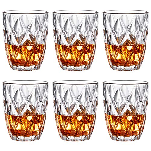Whiskey Glasses – 10 OZ Old Fashioned Crystal Rocks Glasses, Premium Scotch Glasses, Rock Style Old Fashioned Drinking…