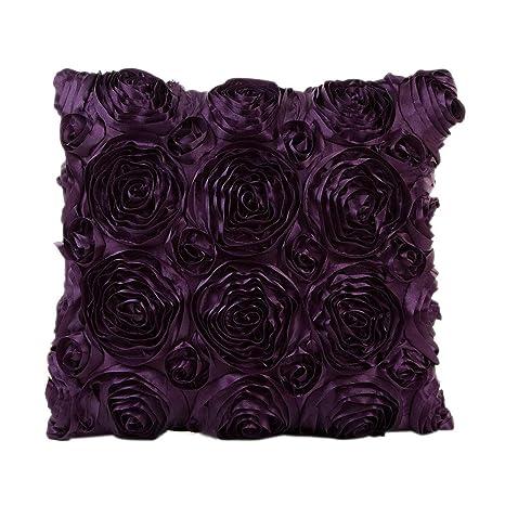 Skang Funda de cojín sofá, diseño de Rosas, 43 x 43 cm ...