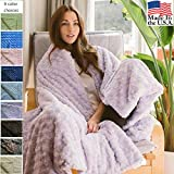 Magic Blanket in Luxurious Soft Fabric - The Blanket That Hugs You Back | Original Weighted Blanket | Molds to Body Increasing Serotonin | Helps Anxiety, Autism, Sleep | 42x72 16lb Charcoal Grey