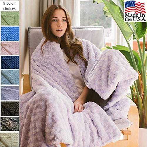 Green Cosmopolitan Sage (Magic Blanket in Luxurious Soft Fabric - The Blanket That Hugs You Back | Original Weighted Blanket | Molds to Body Increasing Serotonin | Helps Anxiety, Autism, Sleep | 42x60 12lb Sage Green Chenille)