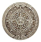 Ebros Mexica Aztec Solar Xiuhpohualli & Tonalpohualli Wall Calendar Sculpture 10.75'' Diameter Mesoamerican Calendar Wall Plaque Figurine