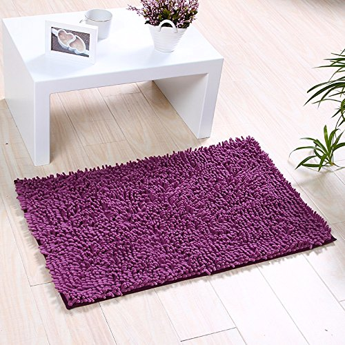 NSSBZZThe carpet of the door mat bedroom kitchen bathroom mat fireplace bath water mat 50 80cm Violet by NSSBZZ
