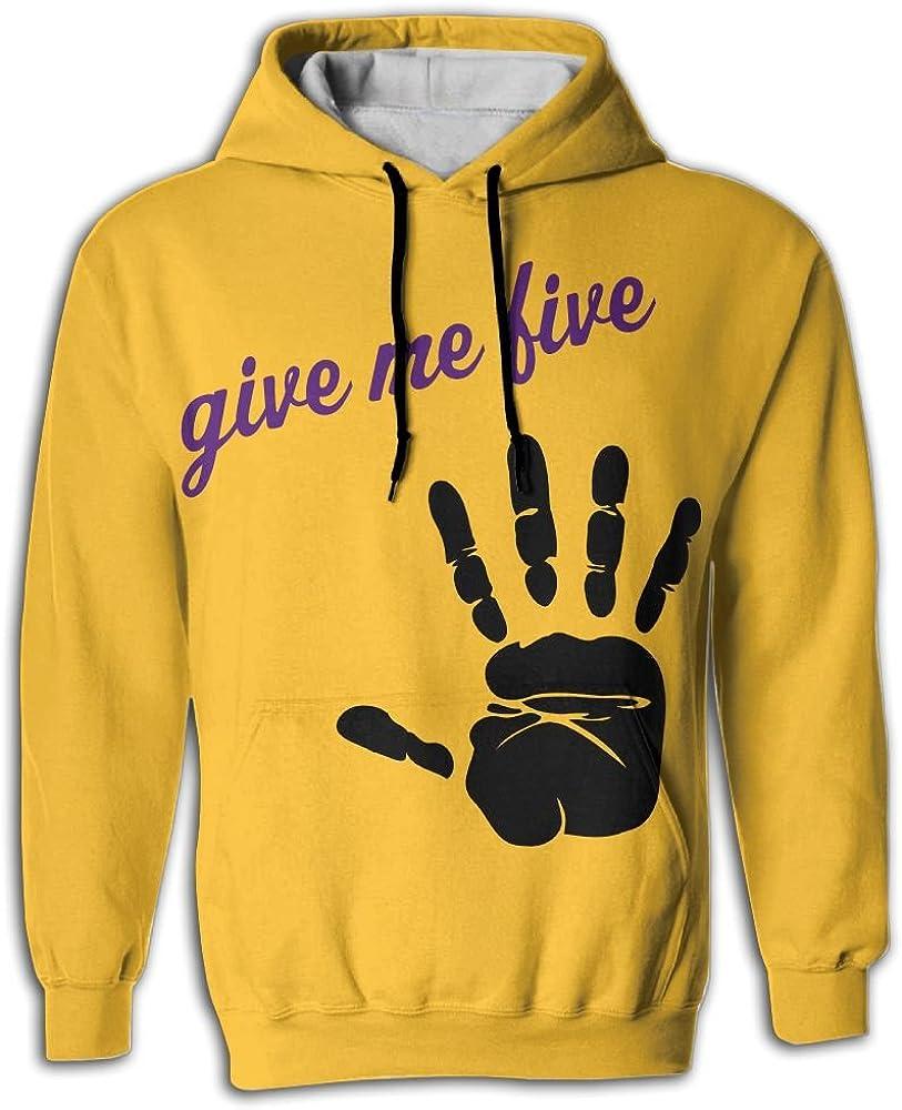 FUSALIN Hand Print VectorUnisex 3D Printed Sweatshirt Casual Pullover Hoodie With Big Pockets