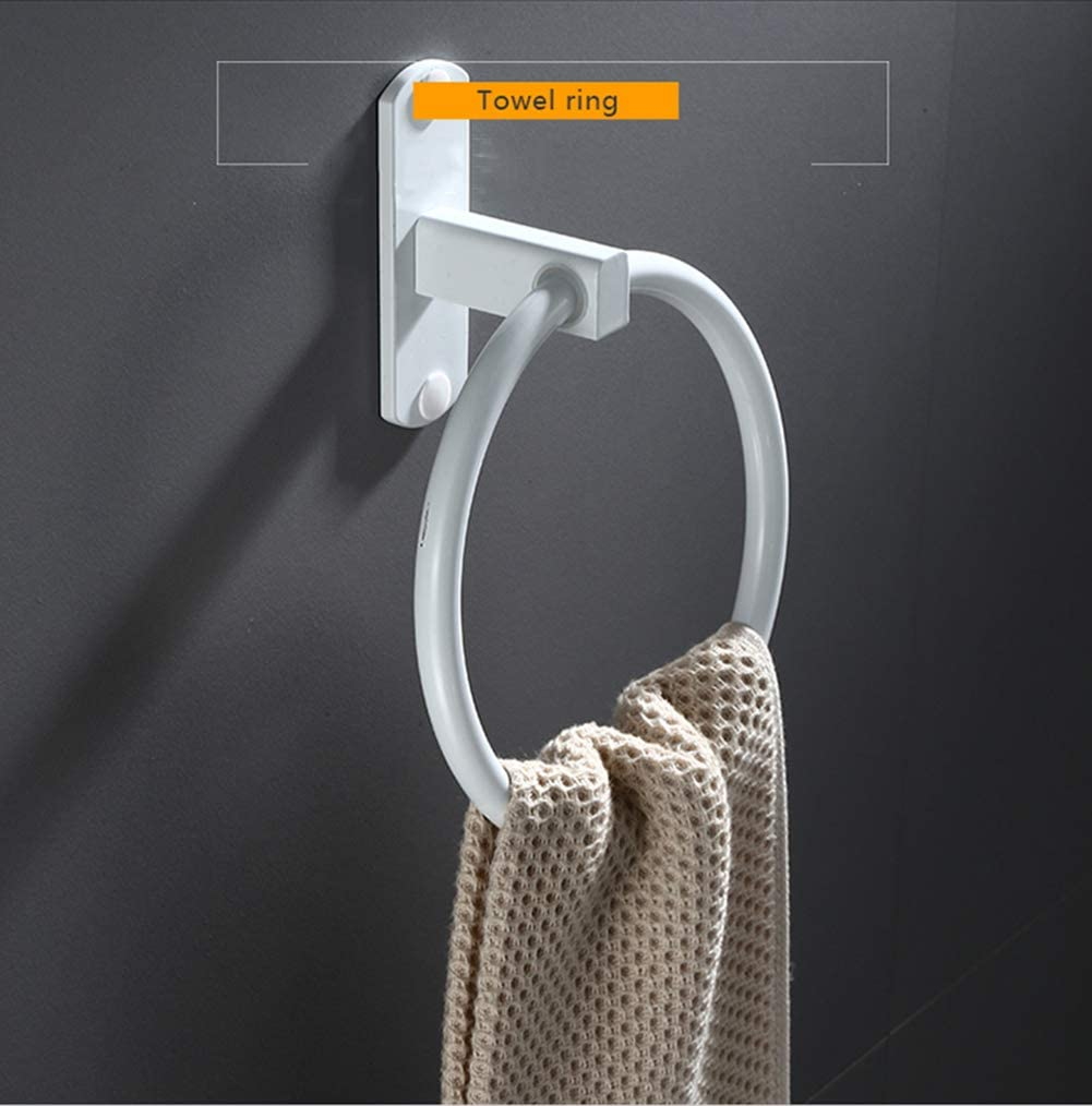 Hovico Towel Rings,Exemption Drill Hole Towel Rings,Towel Hanger Rings for Bathroom and Kitchen Suitable for Bathroom, Kitchen and Bathroom (Black): Home & Kitchen