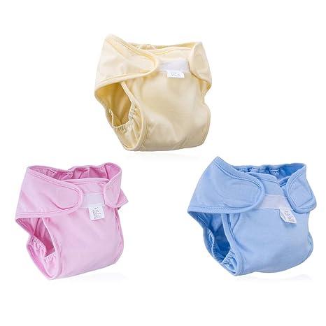 3 pcs Cobertor de pañal color diferente--Bebé Pañales Lavables Pañal Reutilizable Insertos Pañales