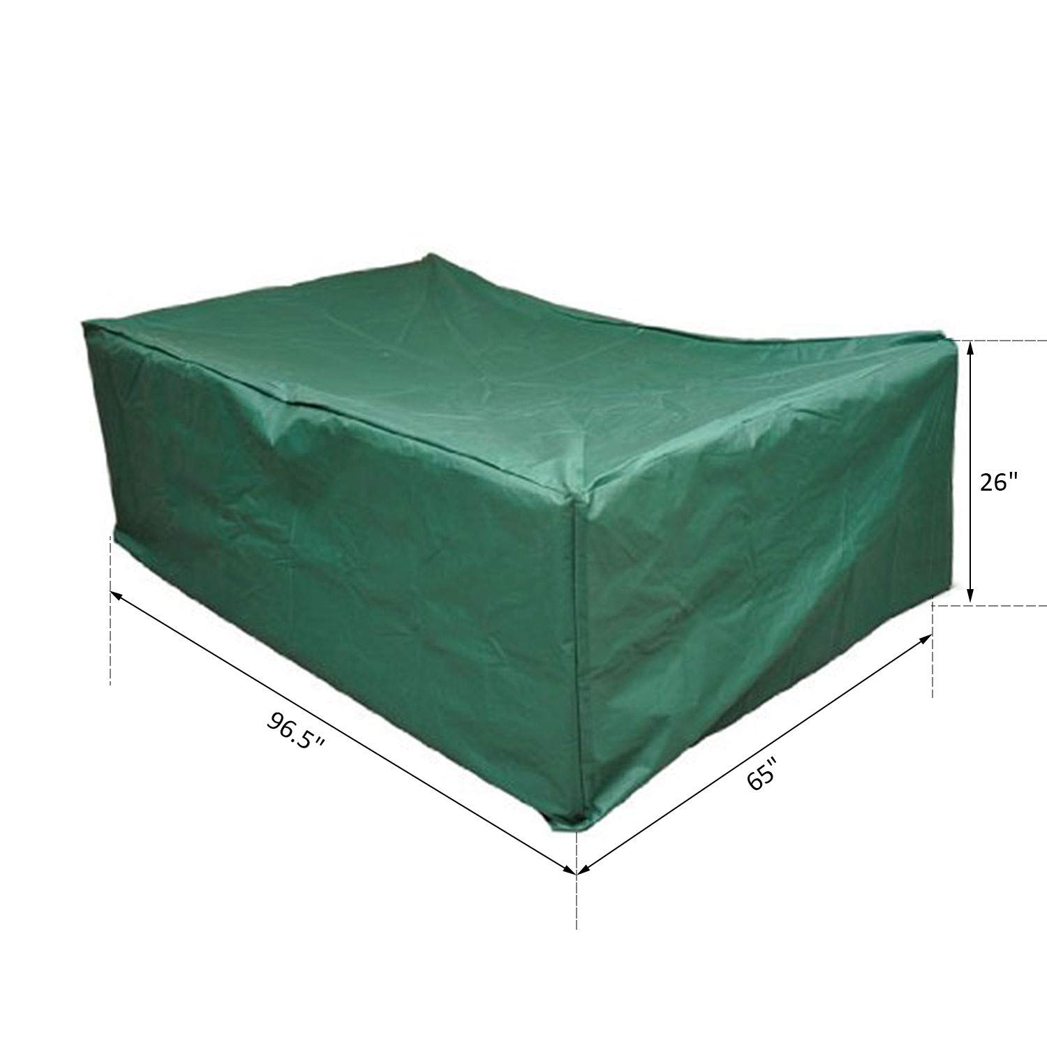 Outsunny Outdoor Sofa Sectional Furniture Set Cover, Green, 97-Inch x 65-Inch x 26-Inch