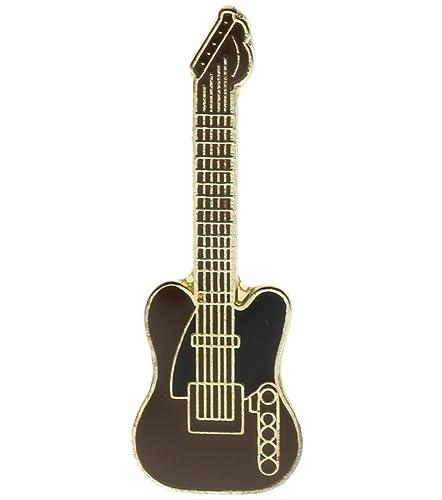 Negro y marrón sombrero de guitarra eléctrica o Pin de solapa ramp1919: Amazon.es: Joyería