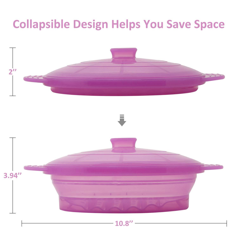 Amazon.com: Vaporera plegable de silicona para microondas ...