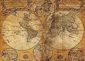 GraphINC Studio – Vintage Map Artistica di Stampa (50,80 x 71,12 cm)