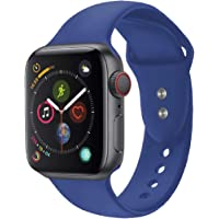 Promate Silicone Apple Watch 38mm/40mm Strap, Adjustable Silicone Sport Wristband Replacement Strap with Sweatproof and…