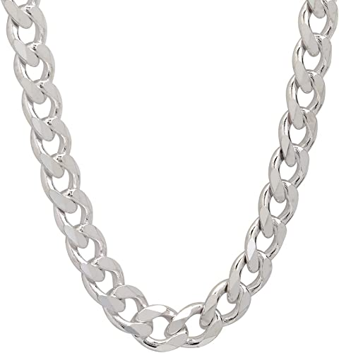 """Rosary Beads Solid Sterling Silver Necklace 28 /"""" Heavy Weight Full Hallmark"""