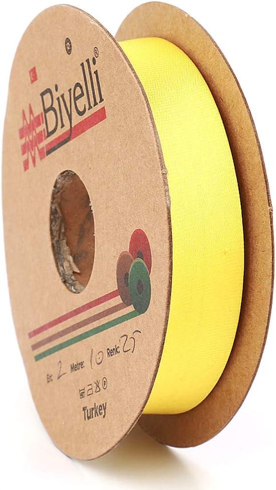 DIY Garment Accessories Beige 20mm-13//16inch Polyester Satin Bias Binding Tape Various Colors Single Fold 10meters-10.93yds