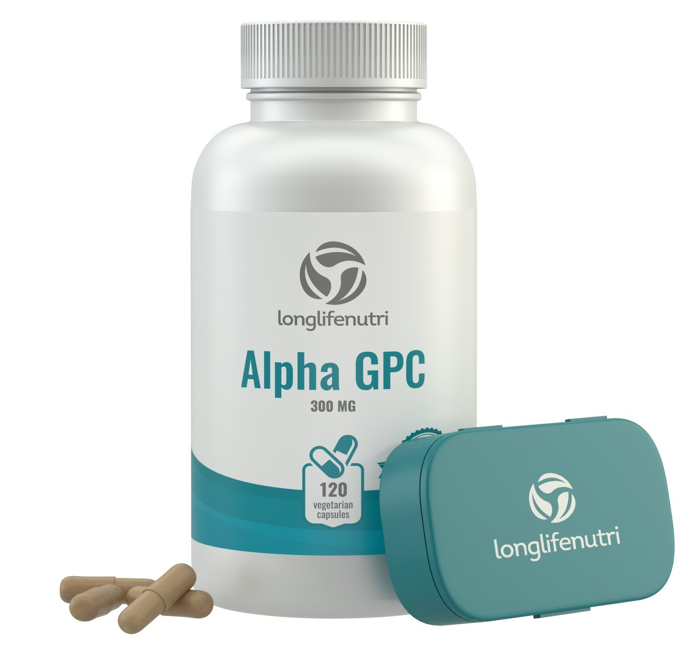 Alpha GPC Choline Supplement 300mg - 120 Vegetarian Capsules | Made In Usa | Cognitive Enhancer Nootropic | Supports Memory & Brain Function | Boosts Focus & Mood | 300 mg Pure Powder Pills Complex by LongLifeNutri