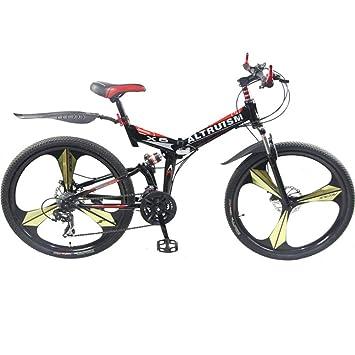 Altruismo X6 26 inch bicicleta plegable de aluminio para bicicleta de montaña de 21 velocidades frenos