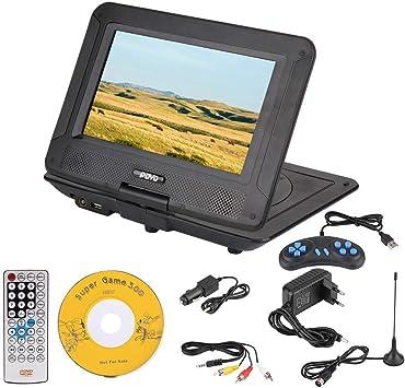 Ymiko Juego de Reproductor de DVD portátil estéreo 3D de 9.8 Pulgadas Reproduciendo Cientos de Canales de TV Reproductor de DVD HD(EU): Amazon.es: Electrónica