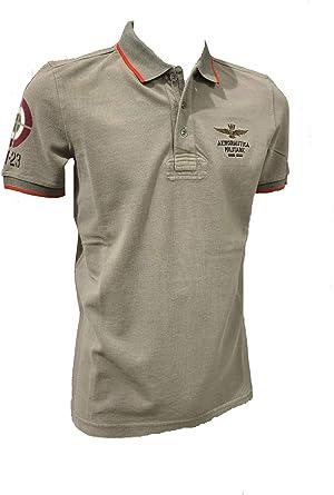 Aeronáutica Militar Polo PO1451P Verde Militar Piquet Hombre Camisa: Amazon.es: Ropa y accesorios