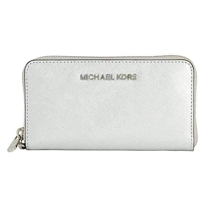 Monedero de Michael Kors Jet Set Travel 32H4STVD1M Silver ...