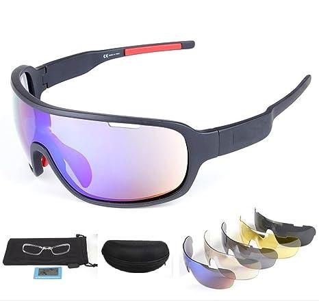 c9809adb999 Rungear Polarized Sports Sunglasses UV400 with 5 Interchangeable Lenes for  Men Women Cycling Running Driving Fishing