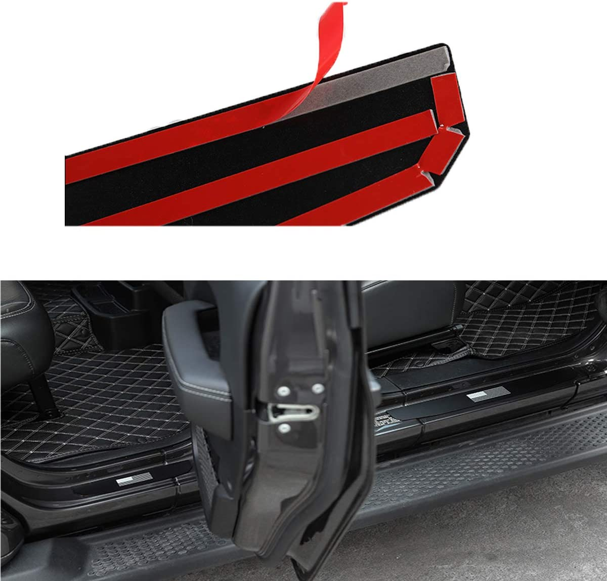 for Jeep Wrangler JL Scuff Plate Entry Guard Door Sill Protectors Alumnium Alloy Protection Strip 2018 2019 2020 2 Door Wlys 1941