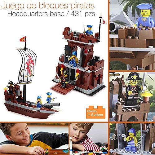 Desconocido Bloques para ARMAR Tipo Lego Base Barco Pirata Juguete