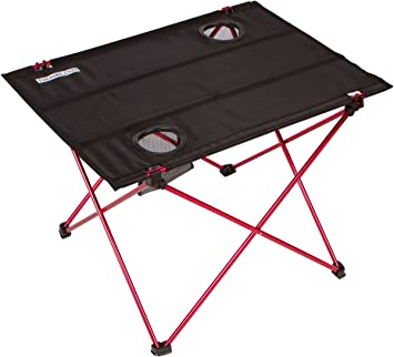 Trekology Foldable Camping Picnic Tables   Portable Compact Lightweight  Folding Roll Top Table In A