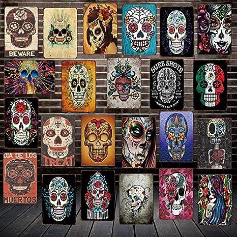 JAMILA GEDY Azúcar cráneo Estilo Mexicano Salones de Metal ...
