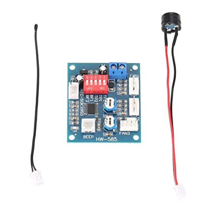 dc 12v four wire thermostat pwm fan speed controller governor module  temperature relay for pc - - amazon com