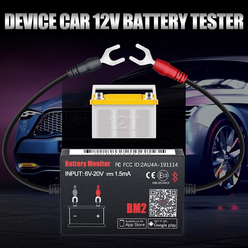 Quicklynks Batterie Monitor Bm2 Bluetooth 4 0 Gerät Kfz 12 V Batterietester Auto
