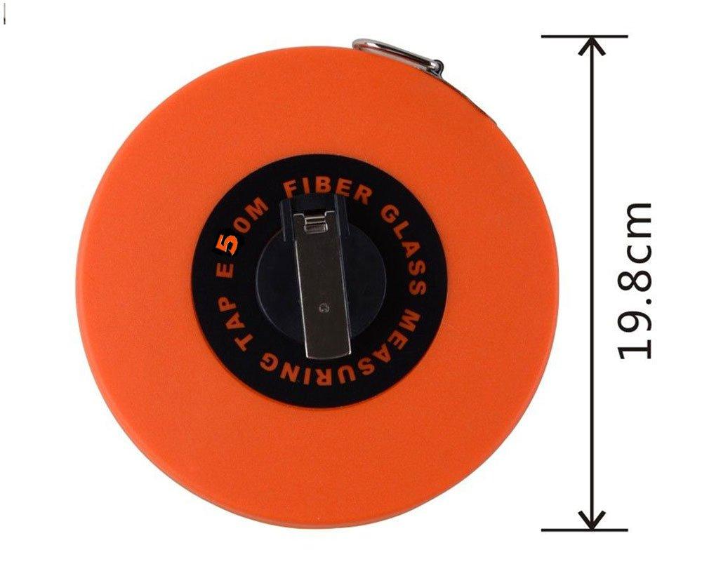 Vetrineinrete® Rotella metrica metro a nastro flessometro per misurare in metri piedi avvolginastro professionale rullina bobina 50 metri 91825 G24