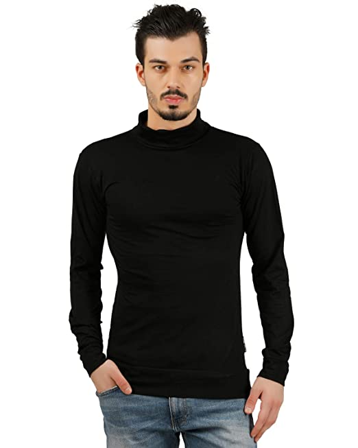 9bbd9490f63 Trus Tee Men s High Neck Full Sleeve T Shirt Men s T Shirt Full Sleeve T  Shirt High Neck T Shirt Hi Neck T Shirt for Men Hi Neck T Shirt (Solid  Plain High ...