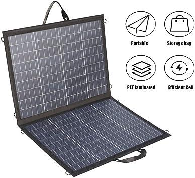 ZHENAI Cargador Solar Plegable portátil de 100 vatios, Fuente ...
