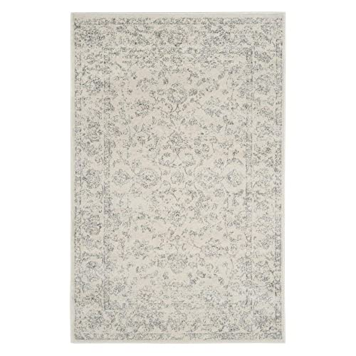 Safavieh Carnegie Collection CNG621D Vintage Cream and Grey Distressed Area Rug 4 x 6