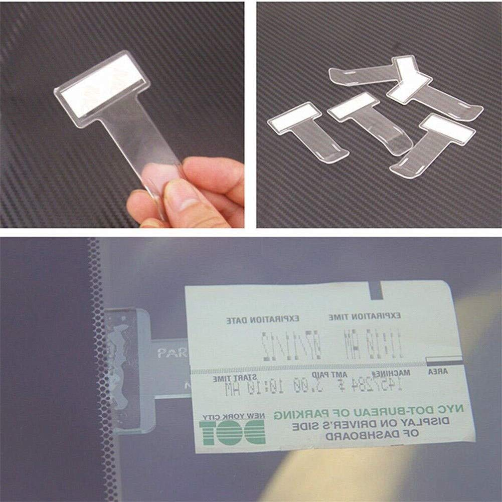 Yongbest Plastic Car Windscreen Parking Ticket Holder,6 Pcs Car Ticket Holder Windscreen Note Holder Clip for Car Pass Holder