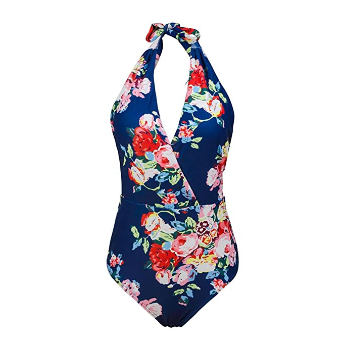 00b3eb04e17ee Kxing One Piece Bathing Suits For Women, Cute Padded Monokini Ladies  Swimwear Vintage Swimsuit