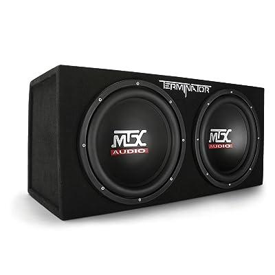 MTX Audio Terminator Series TNE212D 1,200-Watt Dual 12-Inch Sub Enclosure