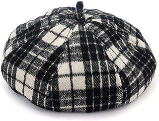 FERZA Home Cappello Berretto Cappello da imbianchino Cappello da imbianchino Vintage Classico Francese Lana di Lana per l'autunno e Inverno Accessorio Shopping CapBlack