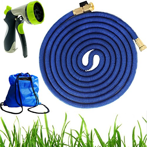 Extenstion Kit (100FT Expandable Garden Hose – PEGZOS Expanding Water Hose with New Improved Triple Latex Core, Extra Strength Outside Webbing, Solid Brass Connector for Car Garden Hose Nozzle)