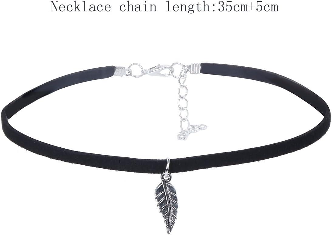 Silver Love Black Velvet Necklace Pendant Ladies Girls Goth Tattoo Lace Chocker