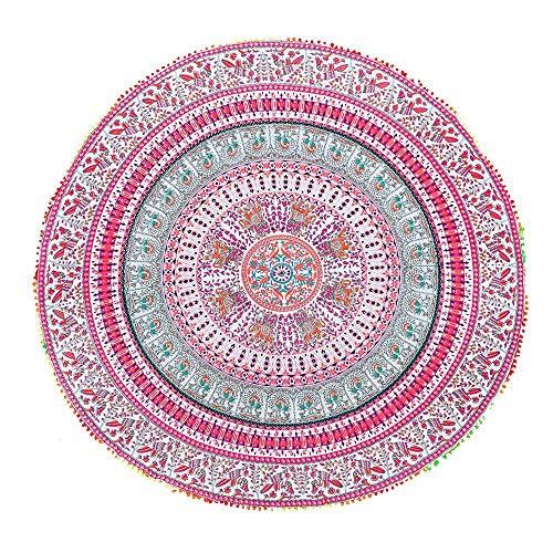 ce4332e2544c Canga Redonda Mandala Com Elefantes E Pássaros ...