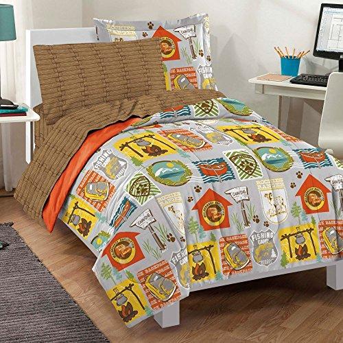 - dream FACTORY Casual Campout Comforter Set, Twin, Multicolor
