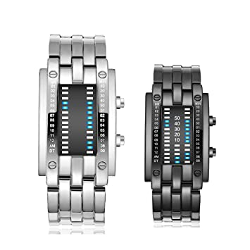 MCBQ® Pareja Relojes ElectróNicos A Prueba De Agua, Fashion Led Sport Watch 50M Reloj